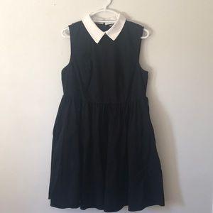 Hot Topic white collar black dress